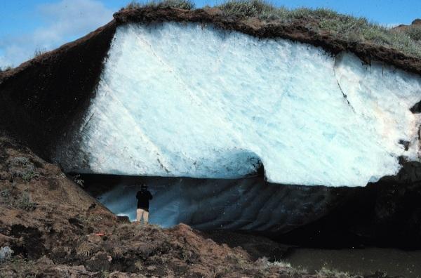 মেরু অঞ্চলে বরফের উপরে পারমাফ্রস্ট এর স্তর
